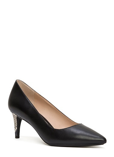 Nine West İnce Topuklu %100 Deri Ayakkabı Siyah